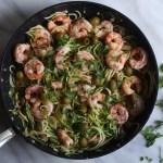 Zucchini Noodle Shrimp Pasta