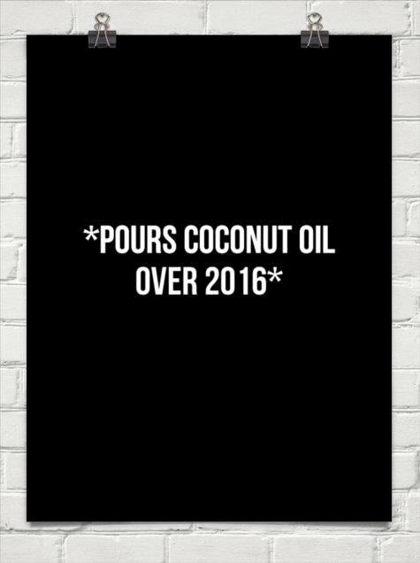 Pours Coconut Oil Over 2016