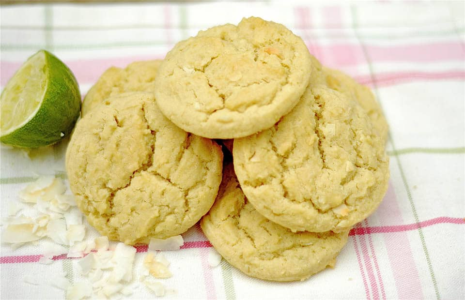 These lime and coconut infused sugar cookies are chewy, a tad crunchy ...
