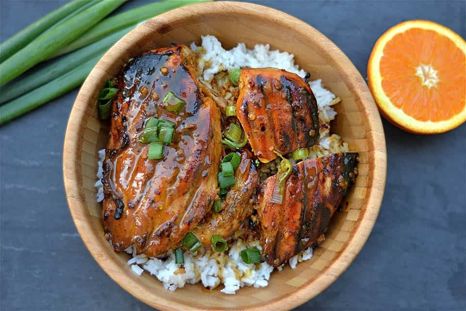 Grilled Asian Orange Chicken is marinated in an orange infused salty ...