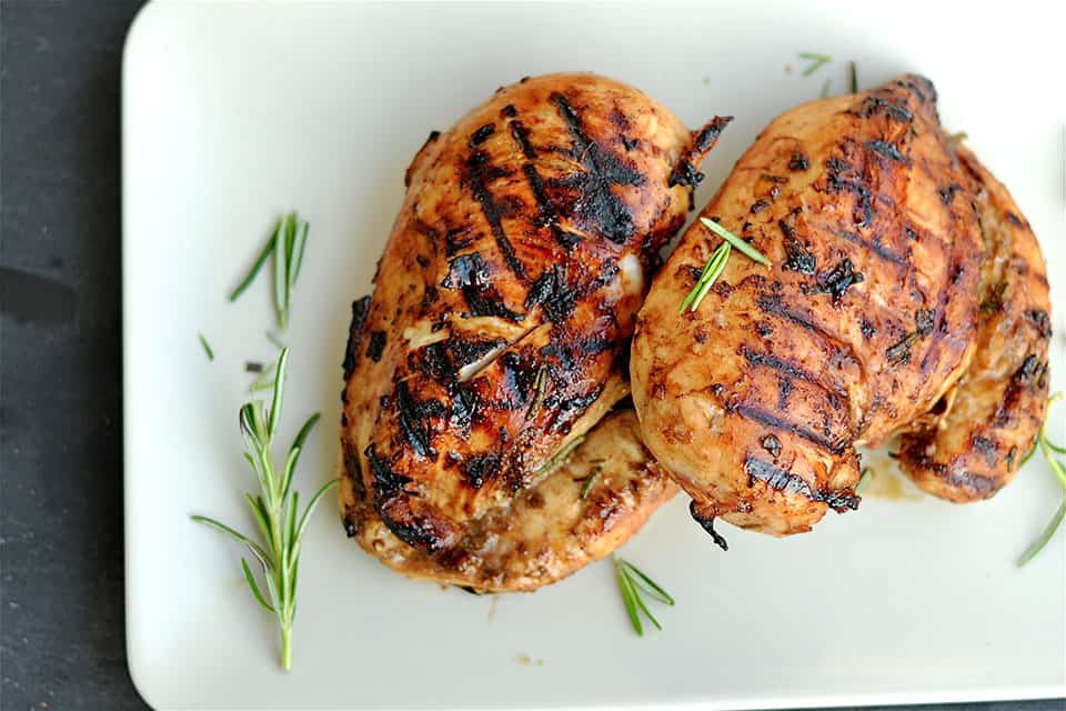 Grilled Rosemary and Balsamic Chicken - Wholesomelicious