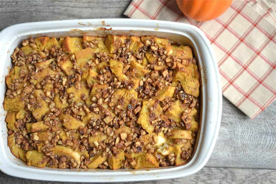 Overnight Pumpkin and Apple Streusel French Toast 3