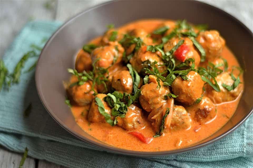 Thai Coconut Red Curry Turkey Meatballs 2