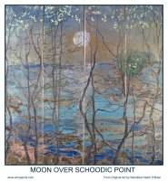 Maine Art Poster of Gold Leaf Painting