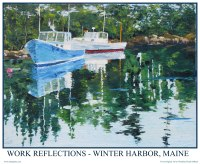 Maine Fishing Boat Poster