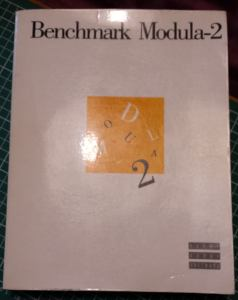 The 100 odd page manual that cam with Benchmark Modula-2 (before I sliced it up for scanning!)