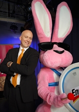 Cal Ripken, Jr. with the Energizer Bunny