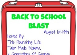 Enter the Back to School Blast! $1000 in prizes