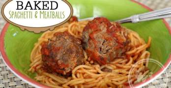 Baked Spaghetti & Meatballs Recipe with Kraft Fresh Take