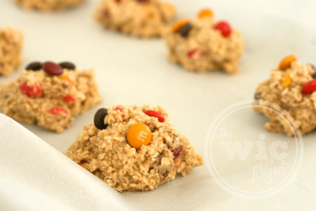 Oatmeal M&M Fall Cookie Dough
