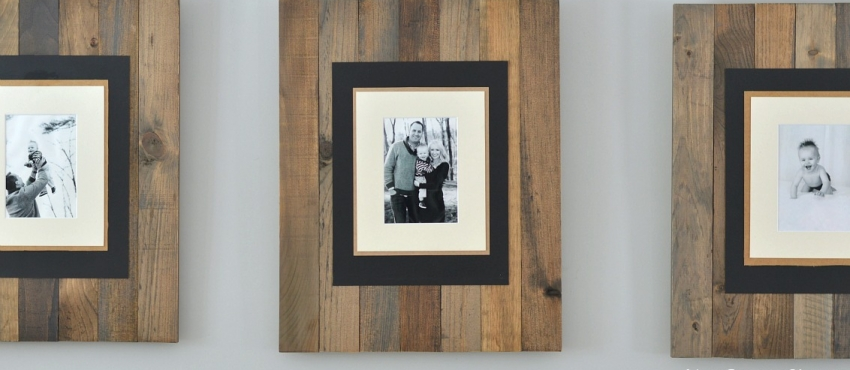 DIY Faux Reclaimed Wood Picture Frame