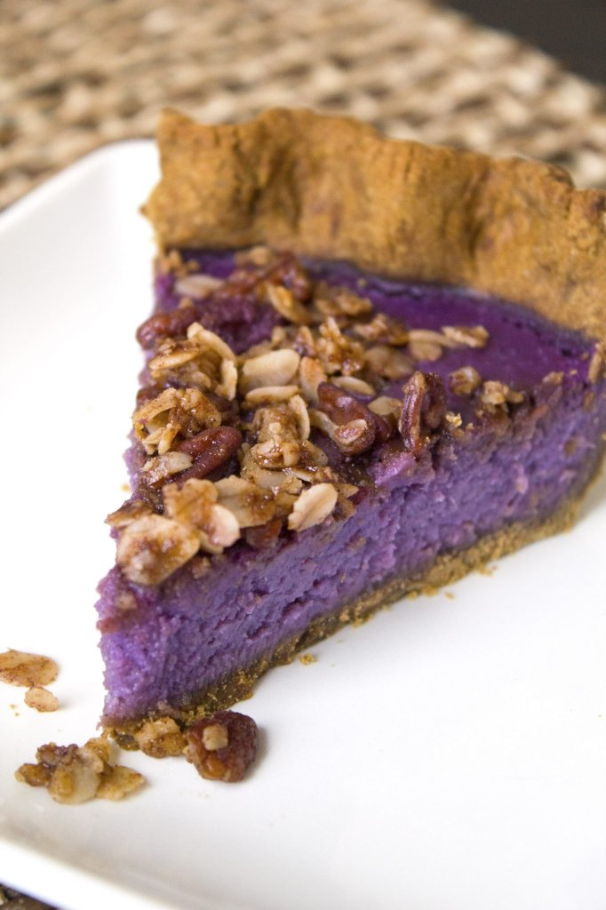 Purple Sweet Potato Pie With A Gingerbread Crust and Pecan Streusel ...