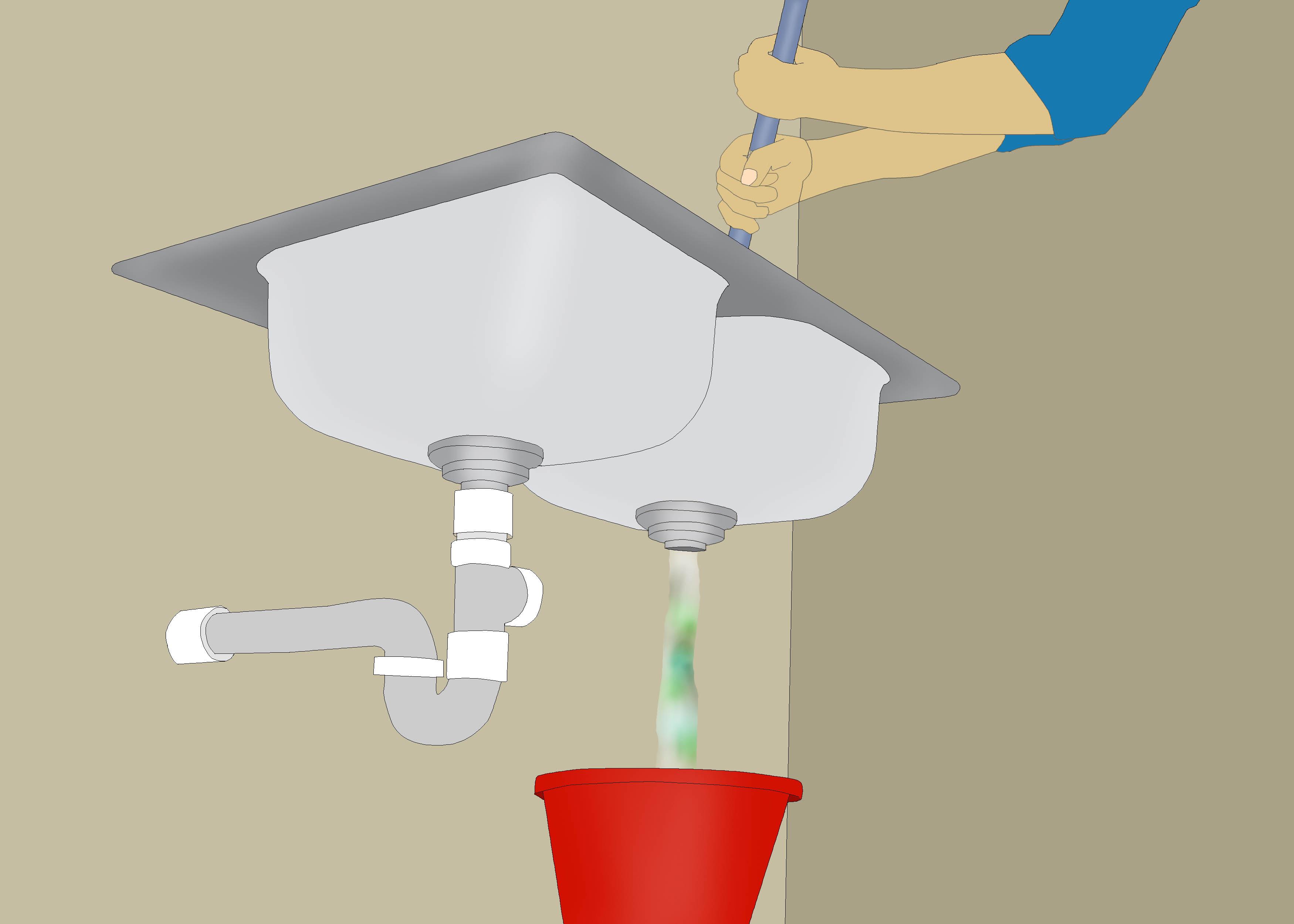 Restore Water Flow To a Clogged Kitchen Drain unclog kitchen sink
