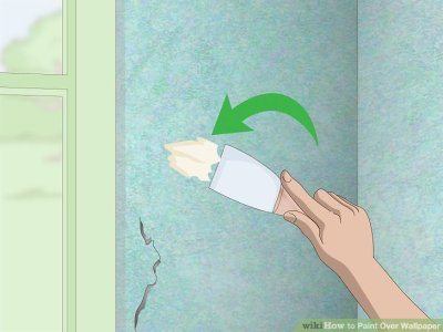 2 Easy Ways to Paint Over Wallpaper - wikiHow