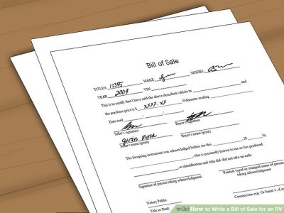 How to Write a Bill of Sale for an RV: 11 Steps (with Pictures)