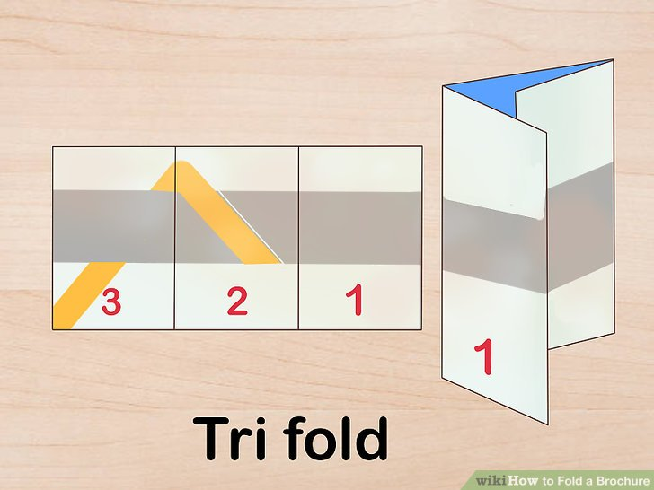 3 Ways to Fold a Brochure   wikiHow Image titled Fold a Brochure Step 3
