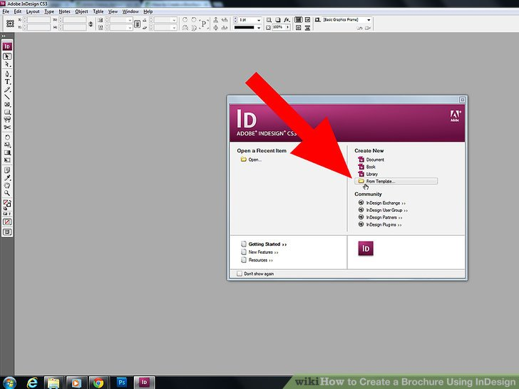 How to Create a Brochure Using InDesign  with Pictures    wikiHow Image titled Create a Brochure Using InDesign Step 2