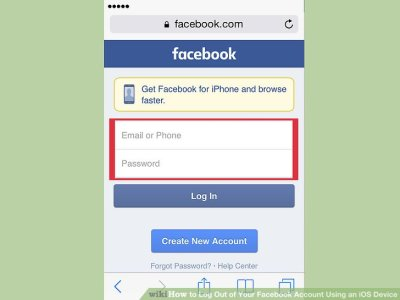How to Log Out of Your Facebook Account Using an iOS Device