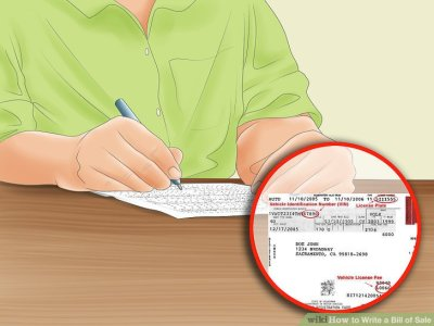 How to Write a Bill of Sale (with Pictures) - wikiHow