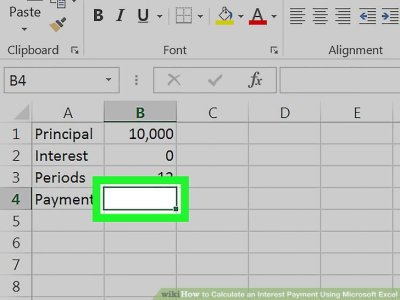 How to Calculate an Interest Payment Using Microsoft Excel