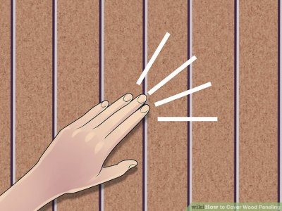 How to Cover Wood Paneling (with Pictures) - wikiHow