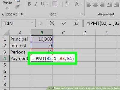How to Calculate an Interest Payment Using Microsoft Excel