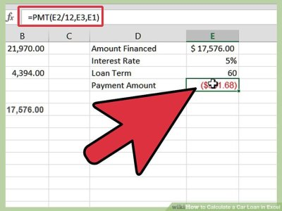 How to Calculate a Car Loan in Excel: 10 Steps (with Pictures)