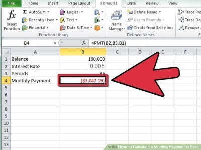 How to Calculate a Monthly Payment in Excel: 12 Steps