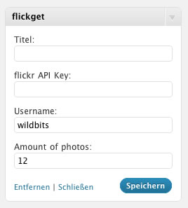 flickr Widget Backend