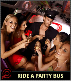 bachelorette party bus in Las Vegas