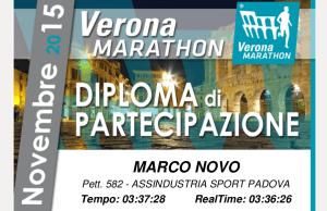 Diploma Maratona di Verona