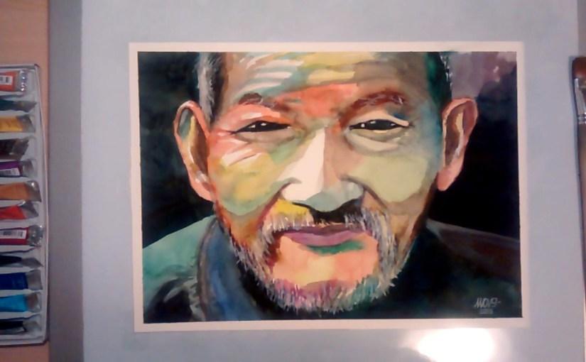 Ritratto ad acquerello – Colored China