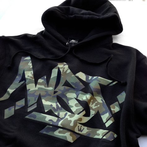 WST Camo Steez Pullover Hoodie front