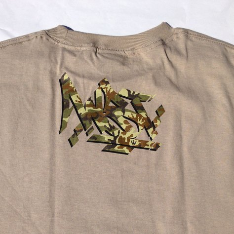 Camo Steez back print on Sand tee