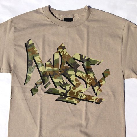 Camo Steez print on Sand Tee