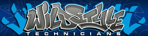 Wild Style Technicians Straigh Letters logo.