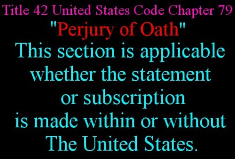 Perjury of Oath 4