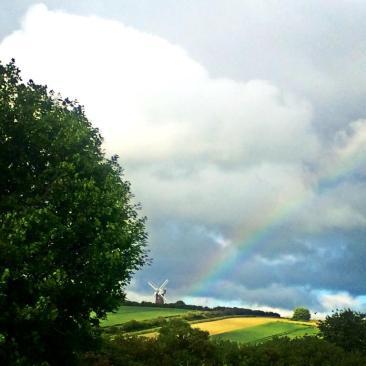 Wilton Windmill rainbow - Image courtesy of Lucy Charman