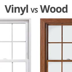 Vinyl window and wood window
