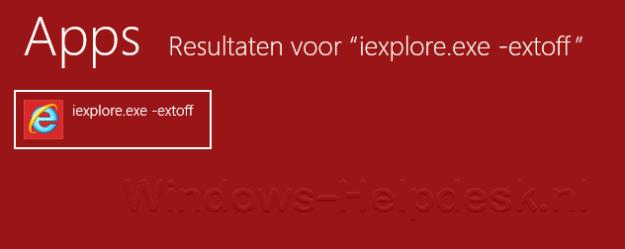 IE zonder invoegtoepassingen: