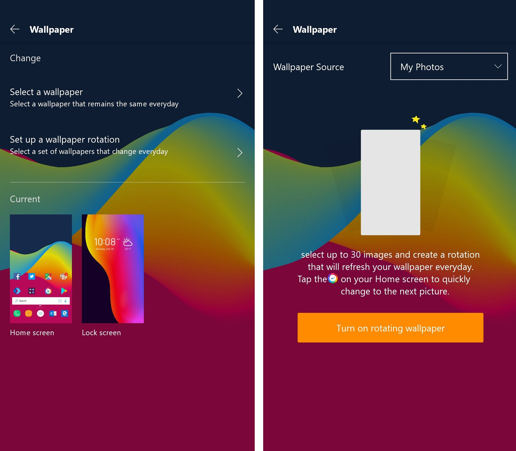 Microsoft Launcher beta for Android now lets you rotate ...