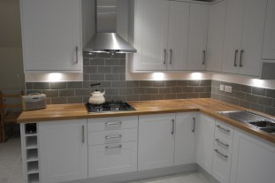 fitted kitchen in white