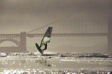 Max Matissek initiates a Kono in front of the Golden Gate Bridge