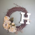 Grapevine Monogram Wreath Tutorial