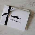 Free Mustache Thank You Card!