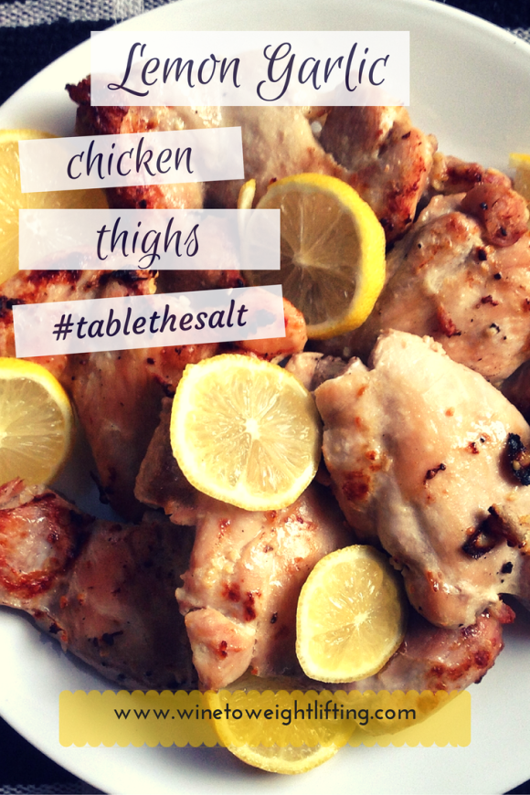 Lemon Garlic Chicken Thighs. Using Sunkist lemons as an alternative to flavoring with salt, these chicken thighs are flavorful and juicy without a high sodium content. For more healthy tips and recipes, check out @winetoweights at www.winetoweightlifting.com.