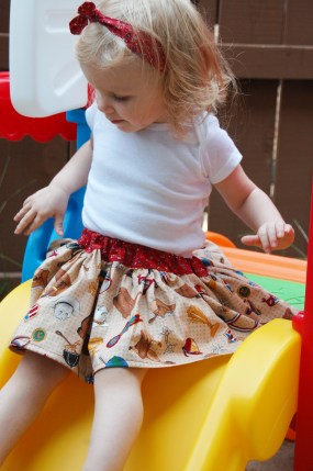Easy Peasy Skirt and Knotted Headband by Mummykins and Me