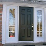 single-black-front-door-with-white-sidelights-pedements-brampton