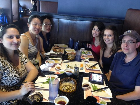 Lunch outing to celebrate completion of practicum