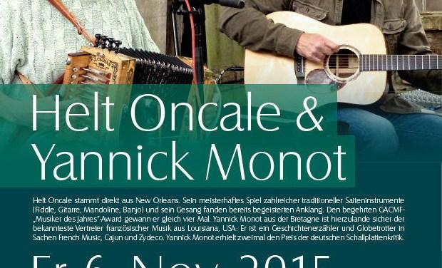 Ein Abend in Louisiana mit Helt Oncale & Yannick Monot im Museum Guntersblum